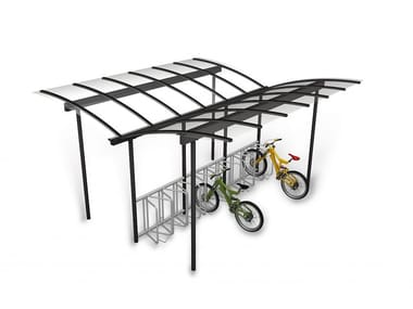 Metal porch for bicycles and motorcycles COMBI BIKE | Porch for bicycles and motorcycles