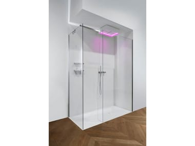 Corner tempered glass shower cabin COMBI | Corner shower cabin