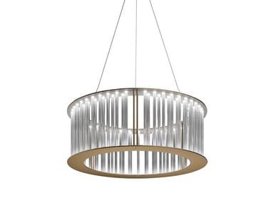 Lampada a sospensione a LED con cristalli COMETE | Lampada a sospensione a LED