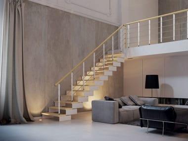 Escalera abierta recta en acero y madera COMPOSITY   Escalera abierta recta