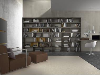 Sectional modular wooden bookcase Pari & Dispari - 351