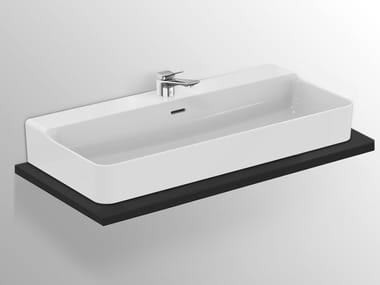 Vasque à poser rectangulaire en céramique CONCA - T383201