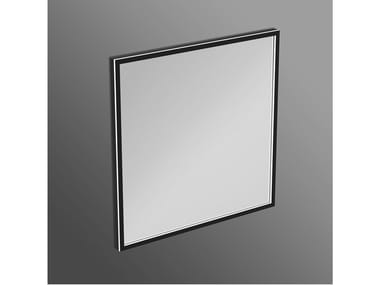 Square bathroom mirror with integrated lighting CONCA - T3966BH