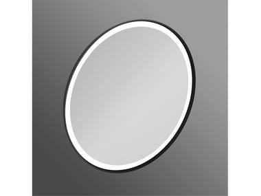Round bathroom mirror with integrated lighting CONCA - T4133BH