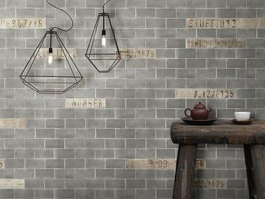 Papel de parede com efeito de tijolos CONCRETE BRICK