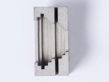 Wall-mounted concrete coat rack Concrete Robehook #9