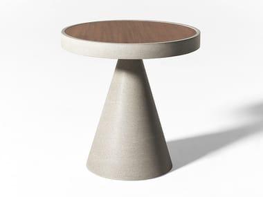 Table basse de jardin ronde en Ductal® CONE OPEN AIR | Table basse ronde
