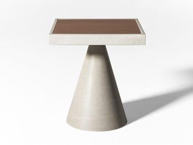 Table basse de jardin carrée en Ductal® CONE OPEN AIR | Table basse carrée
