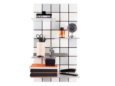 Modular floating ABS bookcase CONFETTI C11