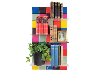 Modular floating ABS bookcase CONFETTI C12
