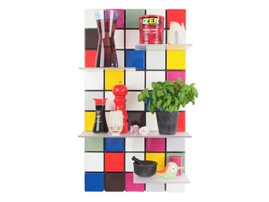 Modular floating ABS bookcase CONFETTI C13