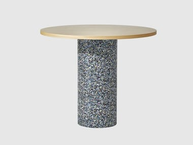 Round wooden high table CONFETTI | High table