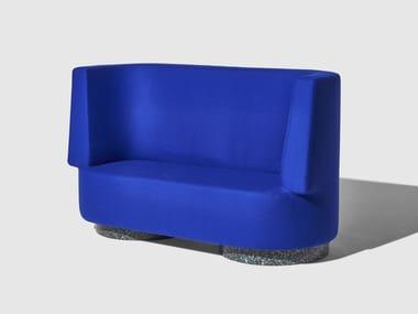 High-back fabric small sofa CONFETTI | Small sofa