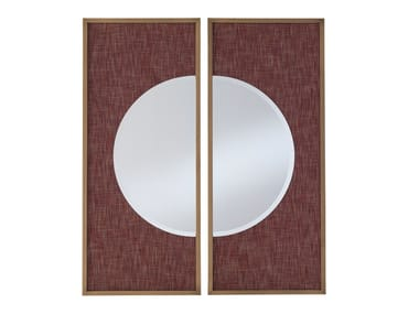 Framed wall-mounted brass mirror CONNERY_1