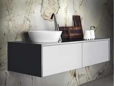Mobile lavabo sospeso con cassetti CONO 01