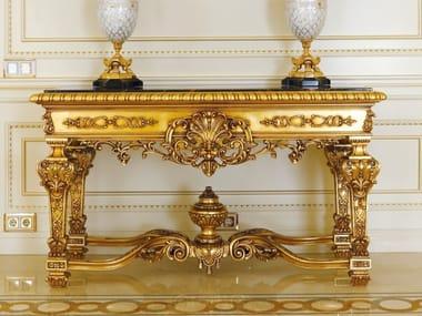 Consolle in legno con piano in marmo 5812 | Consolle