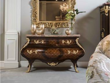 Cassettiera in legno con piano in marmo 5836 | Cassettiera