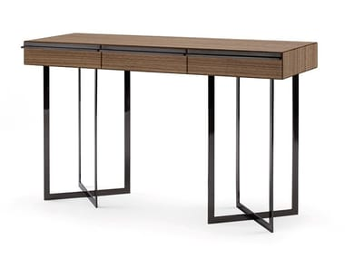 Rectangular MDF console table with drawers PROFILI | Console table