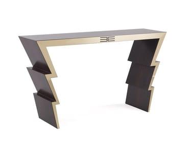 Rectangular eucalyptus console table ZIGGY | Console table