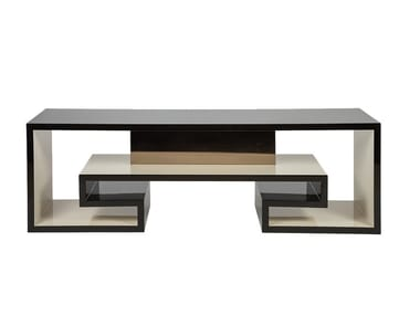 Lacquered rectangular wooden console table SUBLIME | Console table