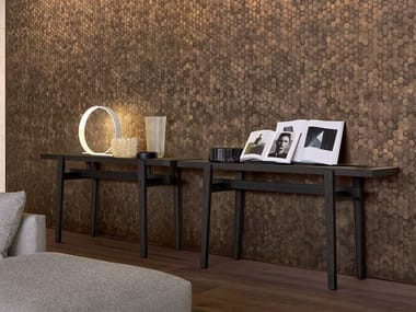 Rectangular wood veneer console table HOME HOTEL | Console table
