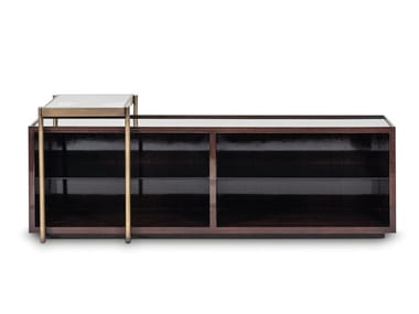 Rectangular wood veneer console table with drawers CLUB | Console table