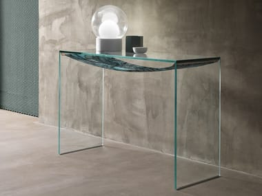 Rectangular glass console table AMACA | Console table