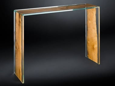 Contemporary style rectangular wooden console table VENEZA | Console table