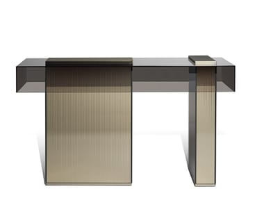Rectangular glass console table MARTY | Console table