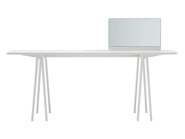 Corian® console table / dressing table CONSOLE WITH MIRROR