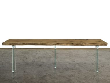 Rectangular reclaimed wood console table CONSOLLE