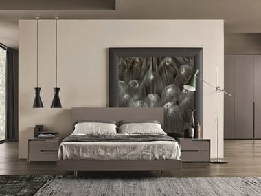 Melamine-faced chipboard bedroom set CONTEMPORARY DREAM