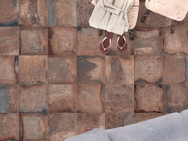 Porcelain stoneware wall/floor tiles with terracotta effect CONTEXT BROWN