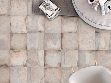 Porcelain stoneware wall/floor tiles with terracotta effect CONTEXT WHITE