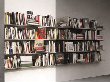 Open modular floating bookcase CONTINUA | Floating bookcase