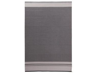 Rectangular striped fabric rug CONTINUO