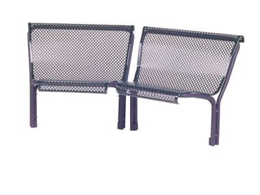 Modular metal Bench with back CONTOUR | Modular Bench