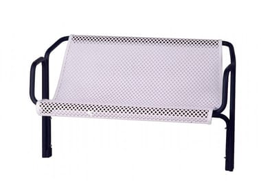 Metal Bench with armrests with back CONTOUR SENIOR