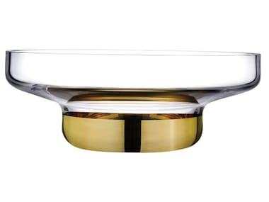 Wide Bowl with Clear Top and Golden Base CONTOUR WIDE | Centerpiece