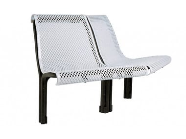 Metal Bench with back CONTOUR | Metal Bench