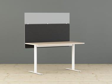 Pannello divisorio da scrivania fonoassorbente CONTRAST | Pannello divisorio da scrivania