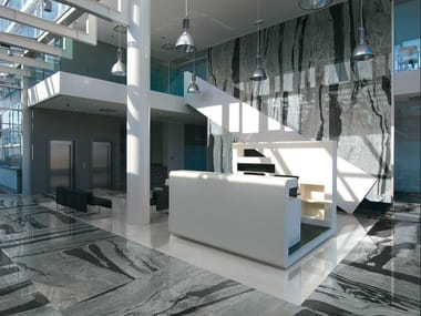 Indoor porcelain stoneware wall/floor tiles with marble effect with marble effect COPACABANA EMPEROR