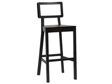 Wooden stool with back CORDOBA   Wooden stool