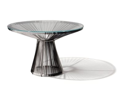 Tavolino rotondo in PVC CORDULA | Tavolino in PVC