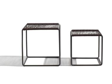 Tavolino quadrato in cuoio CORDULA | Tavolino in cuoio