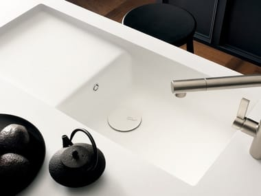 Single Corian® sink CORIAN® KITCHEN SINK SPICY | Sink with drainer