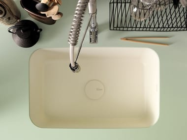 Single flush-mounted Corian® sink CORIAN® KITCHEN SINK SWEET
