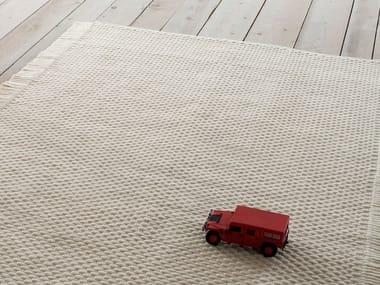 Solid-color handmade rectangular felt rug CORINTO