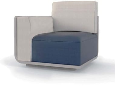 Corner armchair with fire retardant padding AIR | Corner armchair