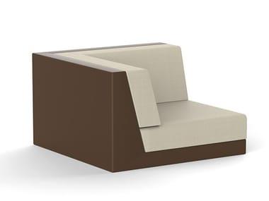 Corner modular Woven vinyl garden armchair PIXEL | Corner garden armchair